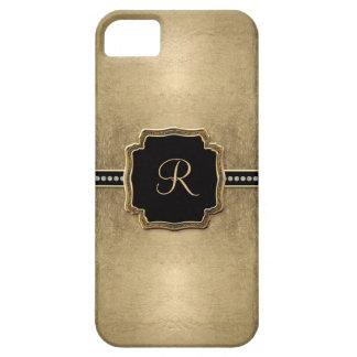 Gold Leaf Look Fleur de Lis Faux Vintage Jewel iPhone 5 Covers