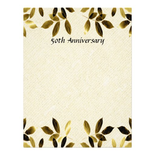 Gold Leaves 50th Anniversary Two Sided Flyer