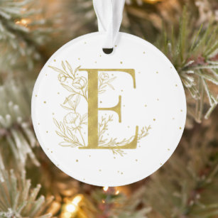 Initial Letter E Christmas Tree Decorations Ornaments Zazzle Co Nz