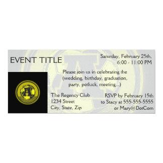 Gold Medal Soccer Monogram Letter A 10 Cm X 24 Cm Invitation Card
