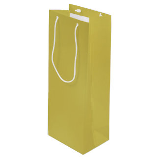 Gold Metal-Colored Wine Gift Bag