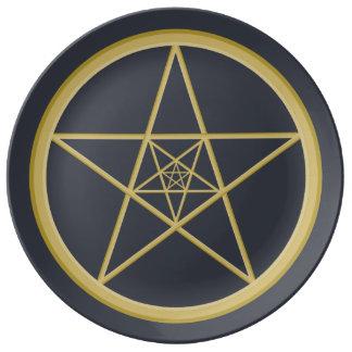 Gold Metal Star Plate