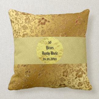 Gold Monogram  50 th Anniversary Pillow