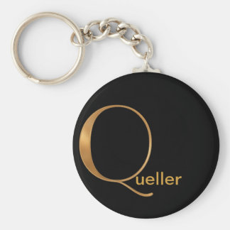 Gold Monogram [Q] Key Ring
