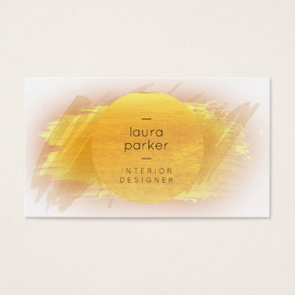Gold Moon Watercolor Splatter Abstract Modern