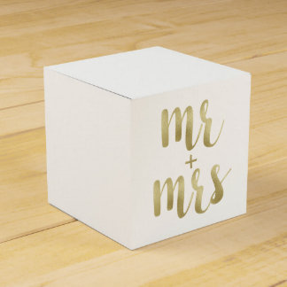 Gold Mr. & Mrs. favor boxes, foil Party Favour Boxes