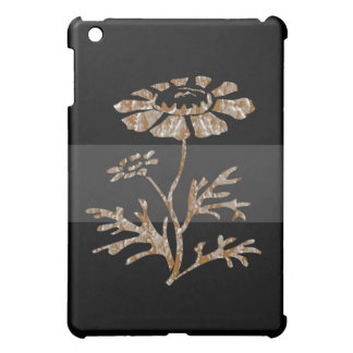 Gold n Silver Engraved Floral Black Beauty Cover For The iPad Mini