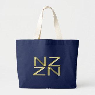 Gold New Zealand NZ Symbol Patriotic Tote Bag