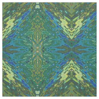 Gold, Olive Green & Blue Fabric Boho 'Sonoma'
