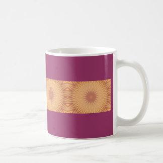 Gold & orange kaleidoscope design classic white coffee mug