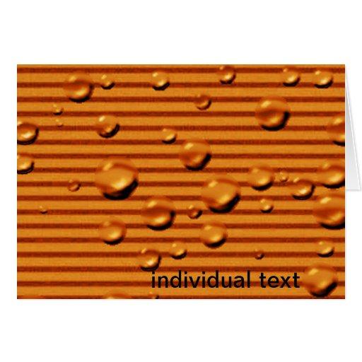 gold orange striped wet greeting cards