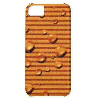 gold orange striped wet iPhone 5C cases