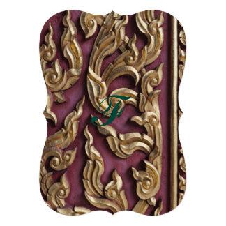 gold painted,wood carved,antique,floral,vintage,bu 13 cm x 18 cm invitation card