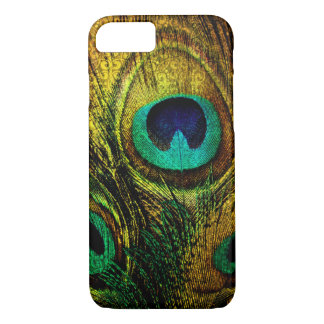 Gold Peacock Feather Pattern Case