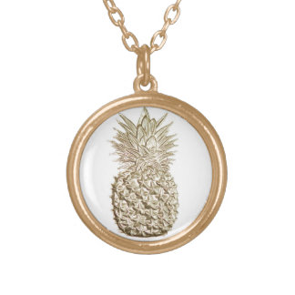 Gold Pineapple Gold Plated Necklace