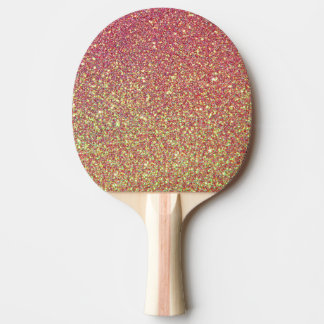 Gold Pink Glitter Texture Ping Pong Paddle