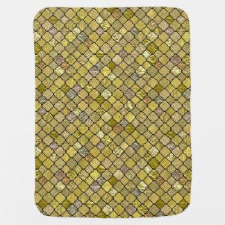 Gold Quatrefoil Foil Glitter Buggy Blankets