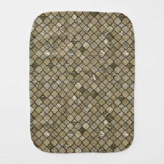 Gold Quatrefoil Foil Glitter Burp Cloth