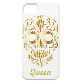 Gold Queen Sugar Skull Barely There iPhone 5 Case