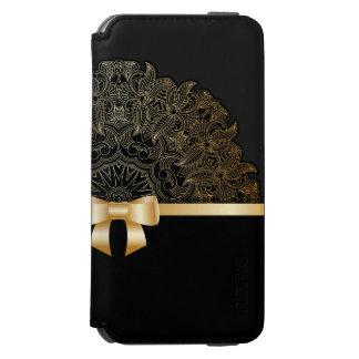 Gold,ribbon,lace,black,elegant,template,customise Incipio Watson™ iPhone 6 Wallet Case