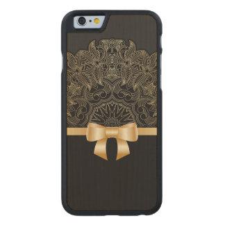 Gold,ribbon,lace,black,elegant,template,customise Carved® Maple iPhone 6 Slim Case