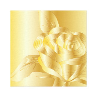 GOLD ROSE OCCASION CELEBRATION WRAPPED CANVAS