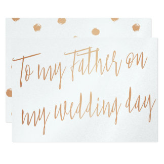 """Gold Rose """"To my stepfather on my wedding day"""" Card"""