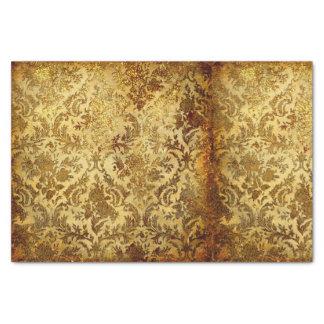 "Gold,rustic,vintage,antique,damask,elegant,chic, 10"" X 15"" Tissue Paper"