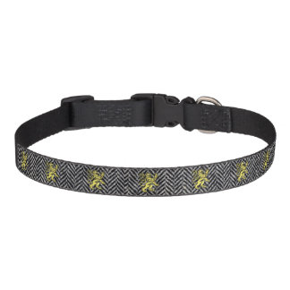 Gold Scottish Lion and Your Color Herringbone Dog Collars