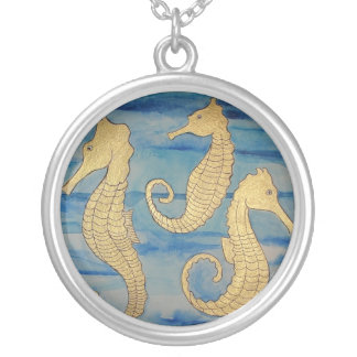 Gold Seahorses Pendant necklace