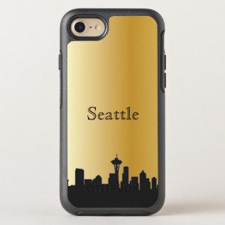 Gold Seattle Skyline Silhouette Case
