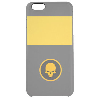 GOLD skull Clear iPhone 6 Plus Case