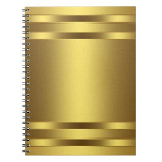 Gold Spiral Business Notebook