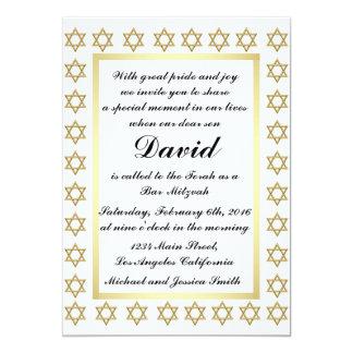 Gold Star of David Bar/Bat Mitzvah Invitation