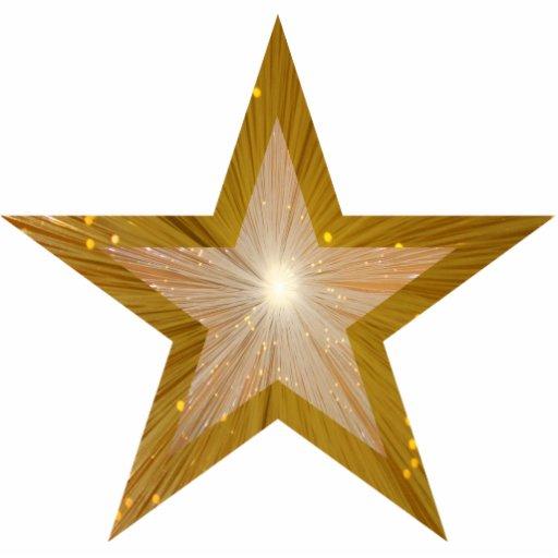 Gold Star 'two tone' Christmas ornament Photo Cutouts