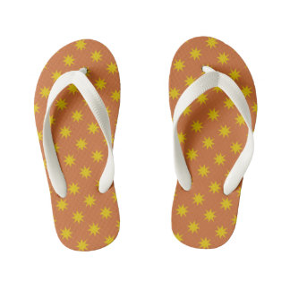 Gold Star with Orange Background Thongs