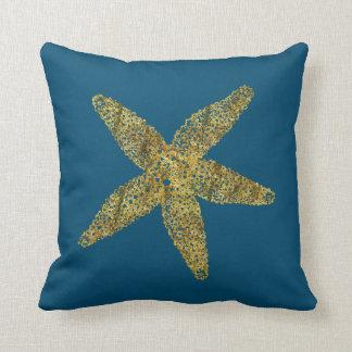 Gold Starfish Cushion