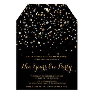Gold Stars Confetti | New Year's Eve Invitation