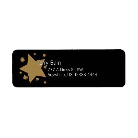 Gold Stars Return Address Label