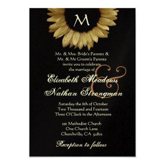 Gold Sunflower Autumn Wedding Collection 13 Cm X 18 Cm Invitation Card