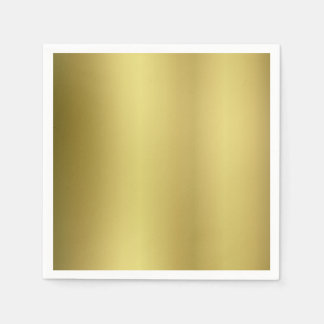 Gold Template Blank Paper Serviettes