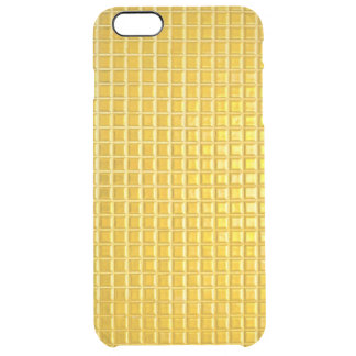 gold textures clear iPhone 6 plus case