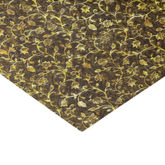 Gold Tone Brocade Pattern Tissue Paper