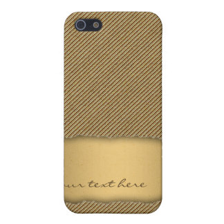 Gold Torn Edge Effect template text banner iPhone 5 Case