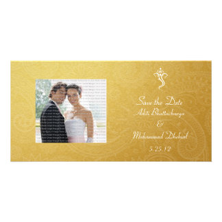 Gold Vinayaka Wedding Save the Date Photo Cards
