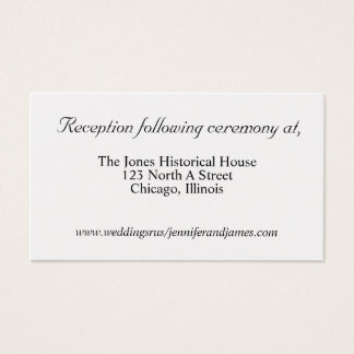 Gold Wedding enclosure cards