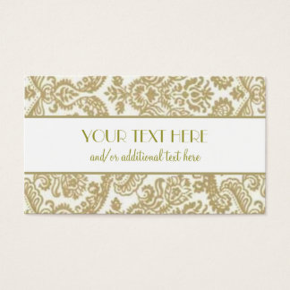 Gold & White Business Card