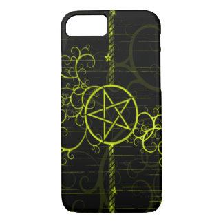 Gold Witch Pentagram iPhone 7 Case