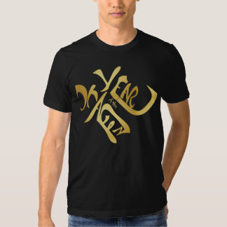 Gold Year of the Dragon Calligraphy Shirt