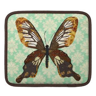 Golddust Butterfly Mint Julep Damask iPad Sleeve
